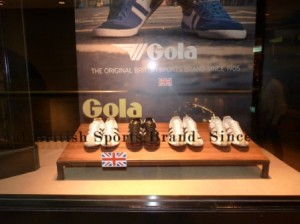 Gola store in Buenos Aires. So do English gentlemen dress like THIS?!