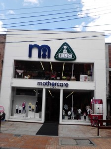 ...and the surprise one! Mothercare? ELC? Luxury? Well, definitely some clever market positioning in Bogota's premium Zona T.
