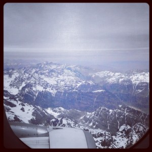 Flying over the (cold and snowy) Andes