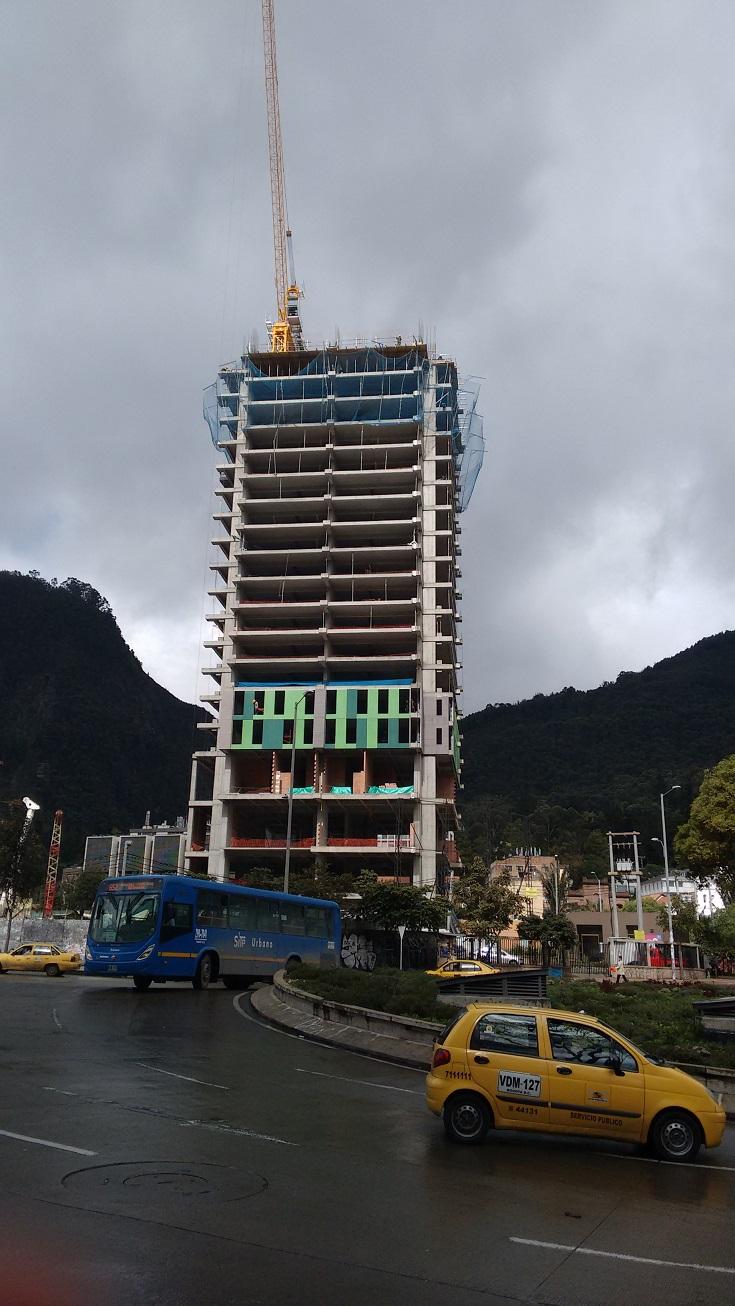 Construction sites everywhere. Bogotá.