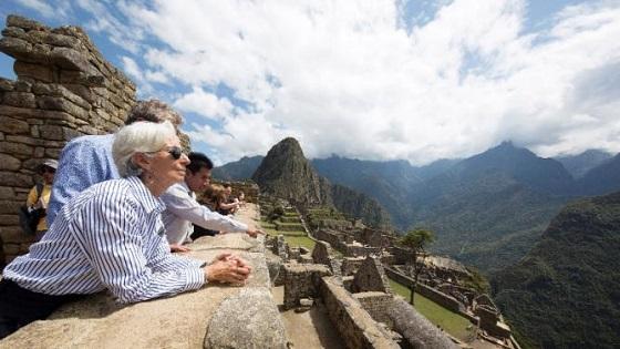 Lagarde in Machu Picchu.