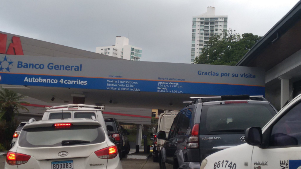 Banking from your car in Panama City