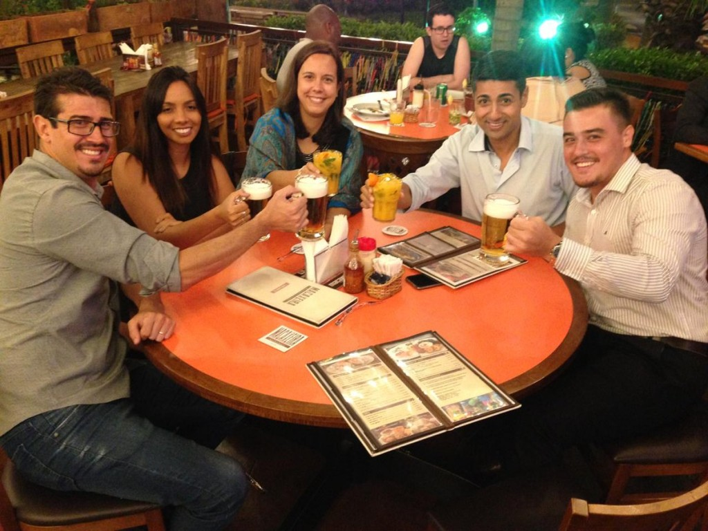 Meeting our Ellis Patents (Yorkshire, UK) distributor in Sao Paulo. Networking, they call it...