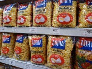 Lots and lots of different pasta shapes in Uruguay, a direct consequence of Italian immigration.