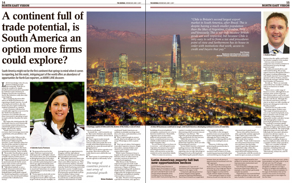 The latest edition of the Institute of Directors magazine (IoD) focused on Chile.