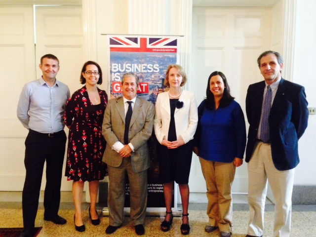 With Carole Sweeney from UKTI, Katharine Felton from the British Embassy and a small group of Uruguay-based businesses