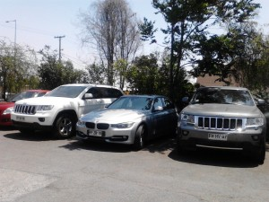 Your average car park in Santiago has this kind of average (!) cars.