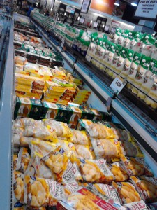 Frozen food. Major supermarket in Santiago de Chile.