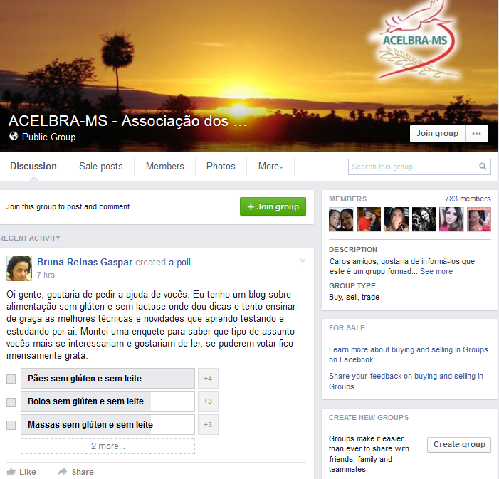 A celiac support group in Brazil on Facebook. Great source of information and contacts.