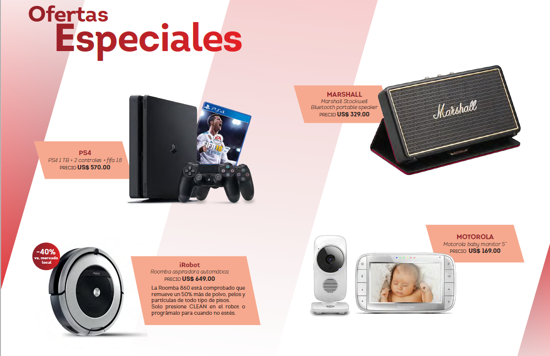 Source: www.dutyfree.com.uy (Dec 2017 catalogue)