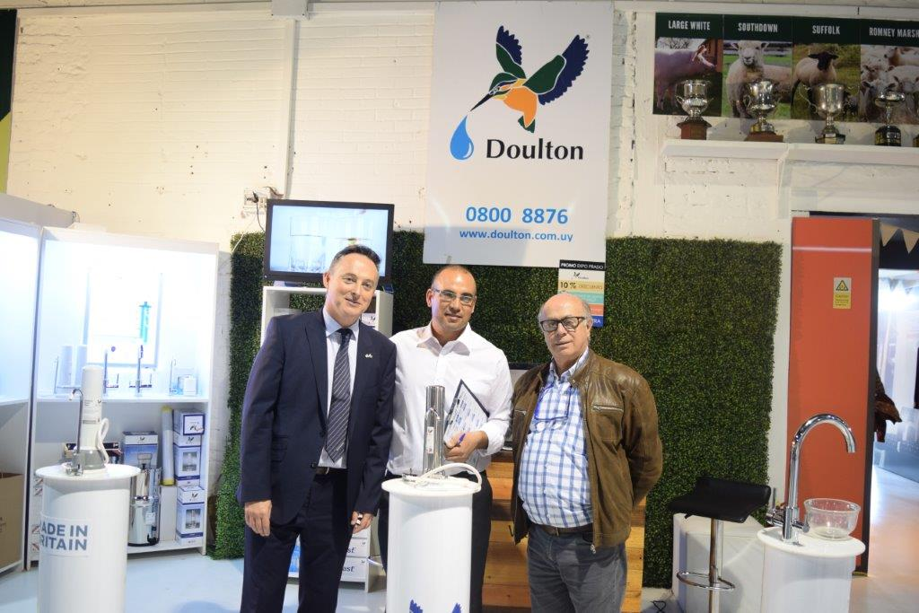 The British Ambassador, Ian Duddy, at the Doulton (water filters) stand. Doulton are part of the Made in Britain campaign.